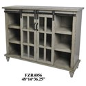 Crestview Collection Accent Furniture Antique Grey Sliding 2 Door Console - Item Number: CVFZR4056