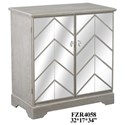 Crestview Collection Accent Furniture Chevron Mirror and Wood Cabinet - Item Number: CVFZR4058