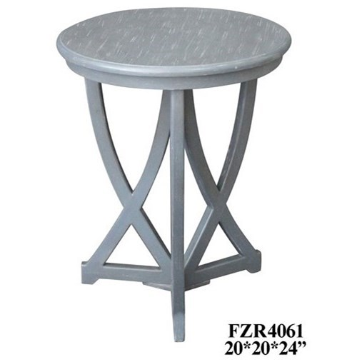 Accent Furniture Shaped Accent Table by Crestview Collection at Factory Direct Furniture