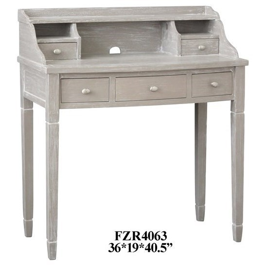 Accent Furniture Burnished Grey Powdered Accent Desk by Crestview Collection at Factory Direct Furniture