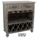 Crestview Collection Accent Furniture Chestnut Wash 2 Drawer Wine Cabinet - Item Number: CVFZR4073