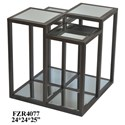 Crestview Collection Accent Furniture Metal and Mirror End Table - Item Number: CVFZR4077