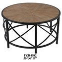 Crestview Collection Accent Furniture  Metal and Wood Cocktail Table - Item Number: CVFZR4082