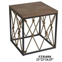 Crestview Collection Accent Furniture Metal and Wood End Table - Item Number: CVFZR4084