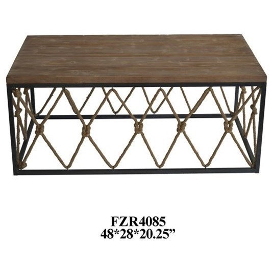 Accent Furniture Rustic Cocktail Table by Crestview Collection at Factory Direct Furniture