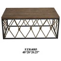 Crestview Collection Accent Furniture Rustic Cocktail Table - Item Number: CVFZR4085