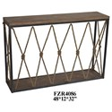 Crestview Collection Accent Furniture Rustic Console - Item Number: CVFZR4086