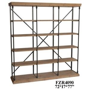 Metal and Wood 3 Section Bookshelf