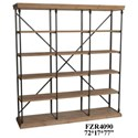 Crestview Collection Accent Furniture Metal and Wood 3 Section Bookshelf - Item Number: CVFZR4090