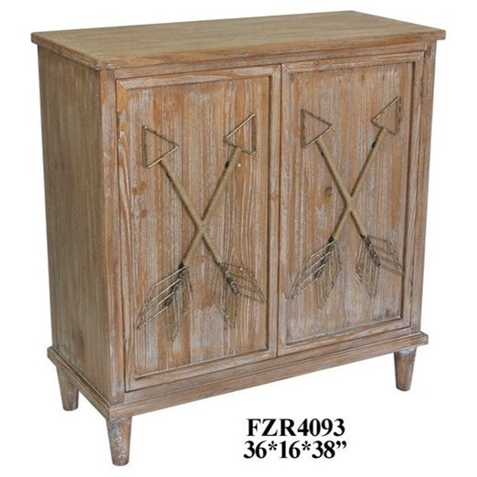 Accent Furniture Wood 2 Door Cabinet by Crestview Collection at Factory Direct Furniture