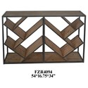 Crestview Collection Accent Furniture Metal and Wood Angled Console - Item Number: CVFZR4094