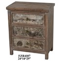 Crestview Collection Accent Furniture 3 Drawer Chest - Item Number: CVFZR4107