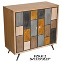 Crestview Collection Accent Furniture Multi-Colored 2 Door Cabinet - Item Number: CVFZR4112