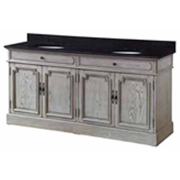 Accent Furniture 4 Louvered Doors Double Vanity Sink by Crestview Collection at Factory Direct Furniture