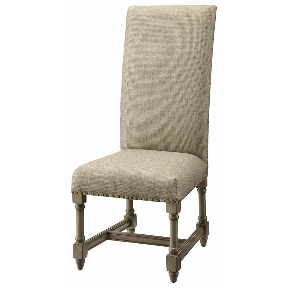 Accent Furniture Baroque Linen Side Chair by Crestview Collection at Factory Direct Furniture