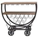 Crestview Collection Accent Furniture Wine Rack Cart - Item Number: CVFZR451
