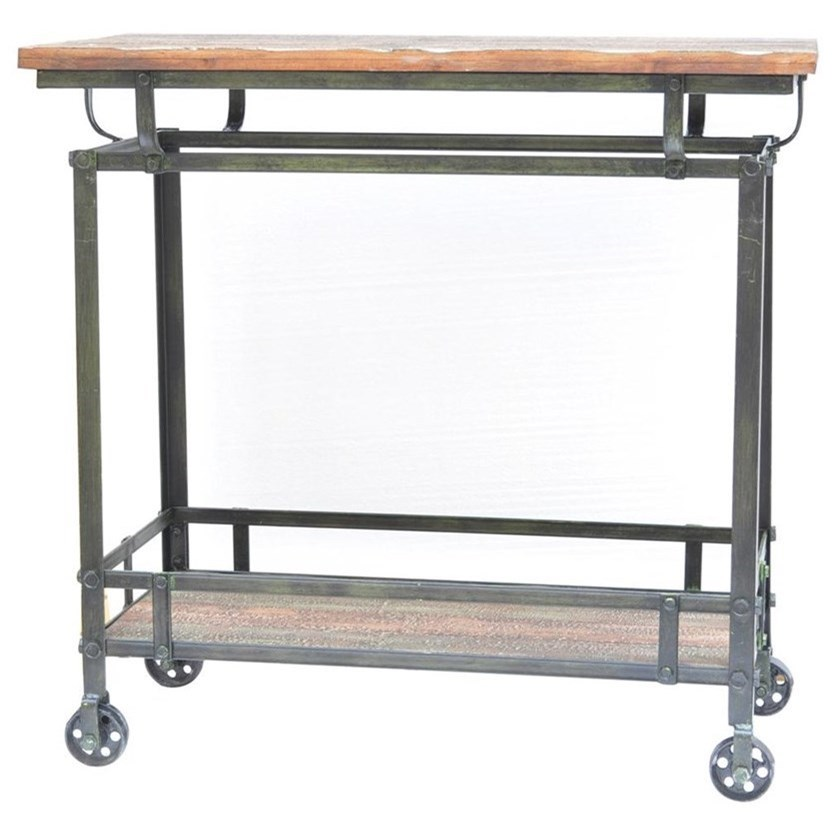Accent Furniture Pressley Cart by Crestview Collection at Factory Direct Furniture
