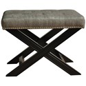 Crestview Collection Accent Furniture Fifth Ave Textured Silver Nailhead Stool - Item Number: CVFZR678