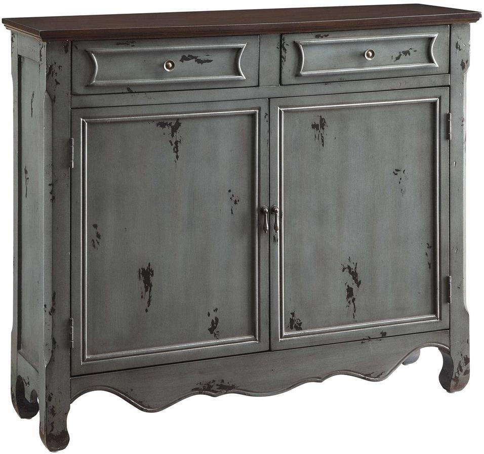 Accent Furniture Greystone 2-Door 2-Drawer Cupboard by Crestview Collection at Factory Direct Furniture
