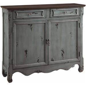Crestview Collection Accent Furniture Greystone 2-Door 2-Drawer Cupboard