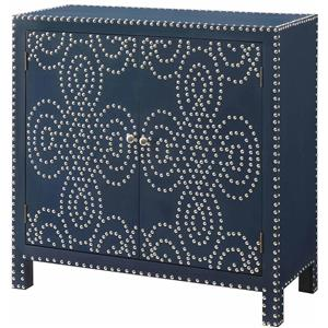 Crestview Collection Accent Furniture Indigo 2-Door Nailhead Cabinet