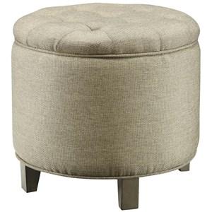 Crestview Collection Accent Furniture Savannah Linen Shoe Ottoman