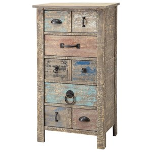 Crestview Collection Accent Furniture Lewiston Rustic 5 Drawer Different Hardware