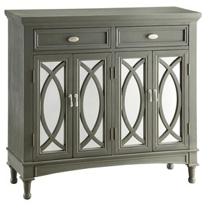 Crestview Collection Accent Furniture Park Avenue Grey & Mirror Sideboard