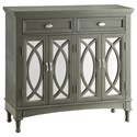 Crestview Collection Accent Furniture Park Avenue Grey & Mirror Sideboard - Item Number: CVFZR947