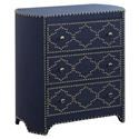 Crestview Collection Accent Furniture Jean Indigo 3 Drawer Chest - Item Number: O3580