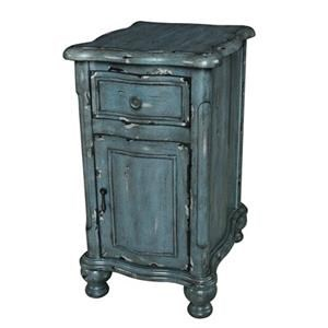 Crestview Collection Accents Harrison Distressed Grey Chairside Cabinet