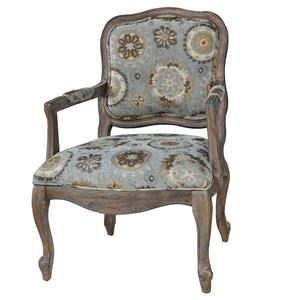 Crestview Collection Accents Hillcrest Rustic Frame & Pattern Chair