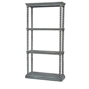 Crestview Collection Accents Antiqued Grey Etagere