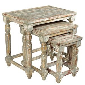 Crestview Collection Bengal Manor Nesting Tables (Set of 3)