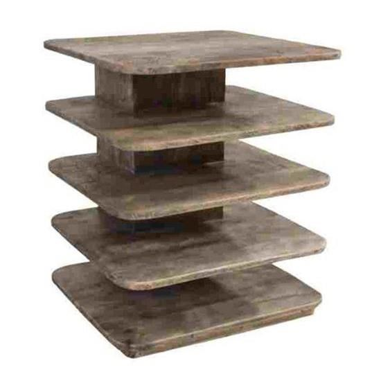Mango Wood Tiered Accent Table