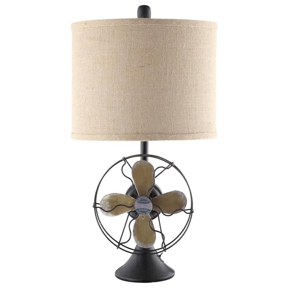 Antique Fan Table Lamp