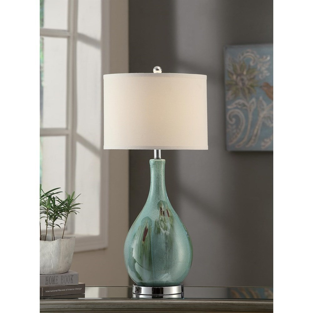 """Crestview Collection Lighting Sea Scape Table Lamp 30""""Ht - Item Number: CVAP1616"""
