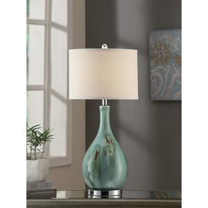 """Crestview Collection Lighting Sea Scape Table Lamp 30""""Ht"""