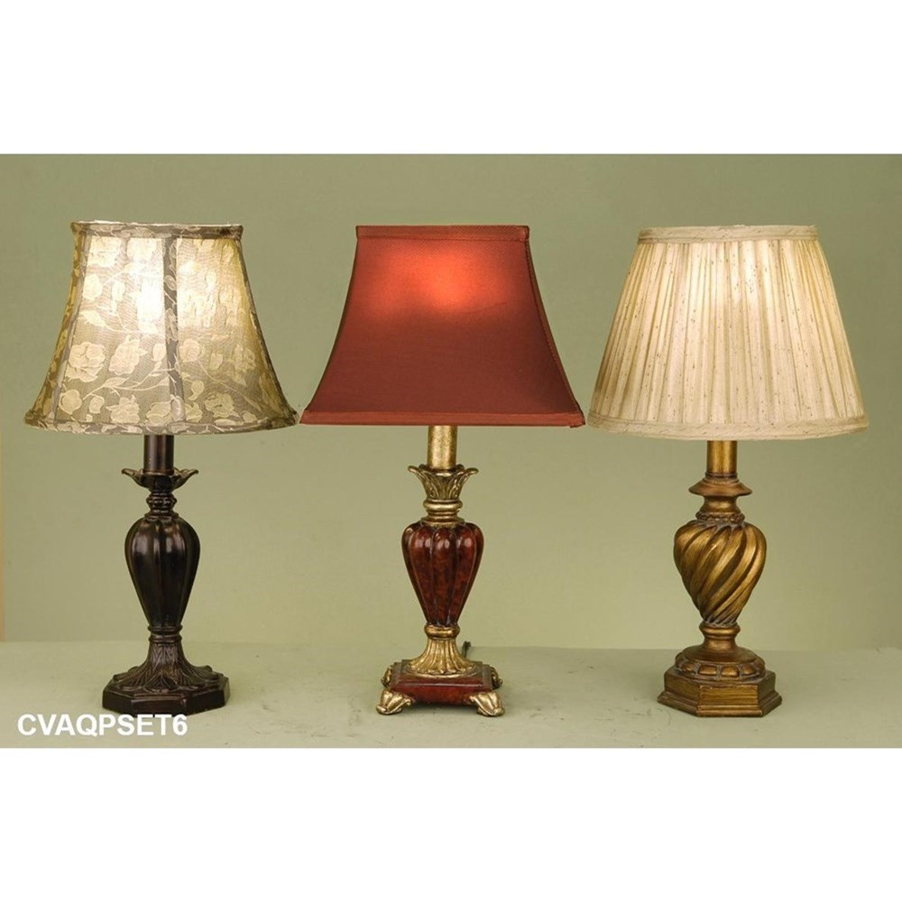 Crestview Collection Lighting Accent Lamp Assortment - Item Number: CVAQPSET6