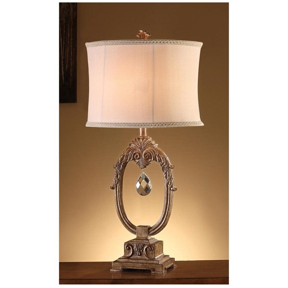 Crestview Collection Lighting Leda Table Lamp - Item Number: CVAUP106