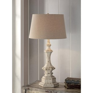 """Crestview Collection Lighting Wooden Column Table Lamp 34""""Ht"""