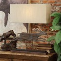 Crestview Collection Lighting Deer Run Table Lamp - Item Number: CVAVP651