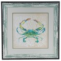 Crestview Collection Prints and Paintings Sealife Crab - Item Number: CVA3331