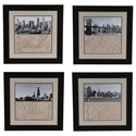 Crestview Collection Prints and Paintings Chicago,Ny,La,San Fransico Set 4 - Item Number: CVA3338