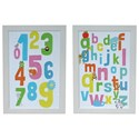 Crestview Collection Prints and Paintings Alphabet 123 Set 2 - Item Number: CVA3344
