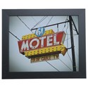 Crestview Collection Prints and Paintings Vintage Motel 6 - Item Number: CVA3566