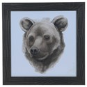 Crestview Collection Prints and Paintings Animal Study (Bear) - Item Number: CVA3642