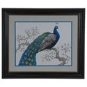 Crestview Collection Prints and Paintings Peacock Blossoms 1 - Item Number: CVA3660