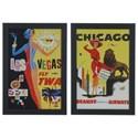 Crestview Collection Prints and Paintings Vintage Destinations 1&3 (Set) - Item Number: CVA3664