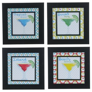 Crestview Collection Prints and Paintings Margarita 1,2,3, &4 (Set 4)